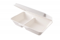 Menu box 2 sekce 1000ml - 23x15cm Vegware